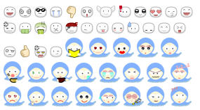 Emoticon biru dari Ebong