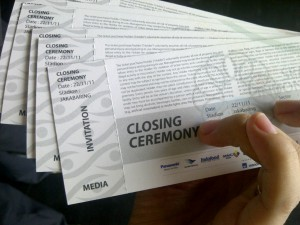 tiket closing ceremony